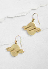 Larissa Loden Circles and Such Dangle Earring Gold