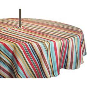 Design Imports Summer Stripe Outdoor Round Tablecl