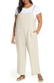 Eileen Fisher Linen Cropped Jumpsuit (Plus Size)