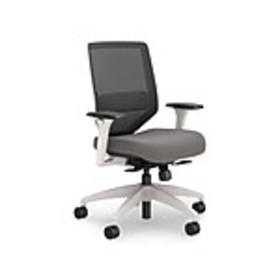 Lewis Mesh Back Computer and Desk Chair, Charcoal,