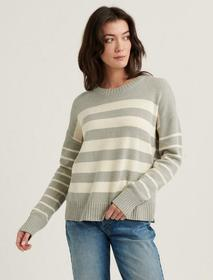 Lucky Brand Mix Stripe Pullover Sweater