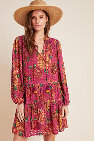 Anthropologie Farm Rio Eyelet Tiered Tunic