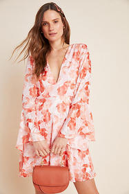 Anthropologie Amora Burnout Mini Dress