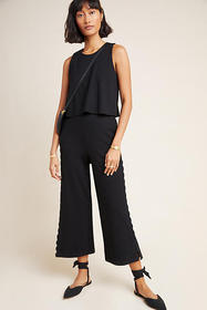 Anthropologie Freya Scalloped Jumpsuit