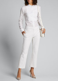 Theory Kick Flare-Leg Ankle Pants