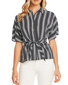 VINCE CAMUTO - Serene Strands Short-Sleeve Blouse