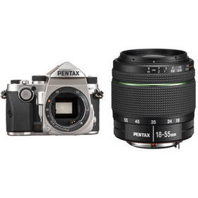 Pentax KP DSLR Camera with 18-55mm Lens Kit (Silve