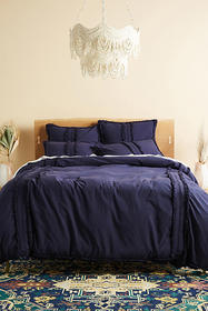 Anthropologie Fringed Mirabella Duvet Cover