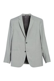 Theory Kris Gray Solid Two Button Notch Lapel Wool
