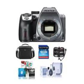 Pentax K-70 DSLR Body with Free Accessories, Silve