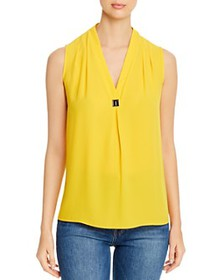 T Tahari - Sleeveless V-Neck Blouse