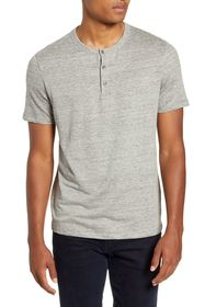 Theory Essential Regular Fit Stretch Linen Henley