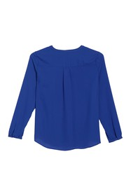 Adrianna Papell Split Neck Long Sleeve Blouse
