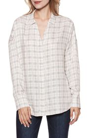 PAIGE Delisa Plaid Tunic Shirt
