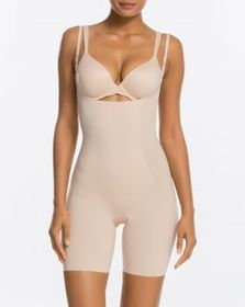 Spanx Thinstincts® Open-Bust Mid-Thigh Bodysuit