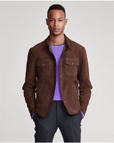 Ralph Lauren Nubuck Leather Shirt Jacket