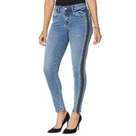 """As Is"" Colleen Lopez Side Stripe Skinny Jean - Fa"