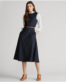 Ralph Lauren Pinstripe Wool Dress