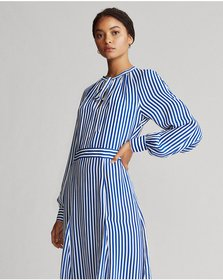 Ralph Lauren Striped Silk-Blend Dress