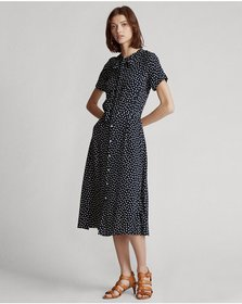 Ralph Lauren Belted Short-Sleeve Dress