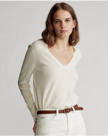 Ralph Lauren Washable Cashmere V-Neck