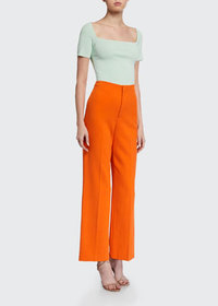 Alice + Olivia Lorinda Super High-Waist Ankle Pant