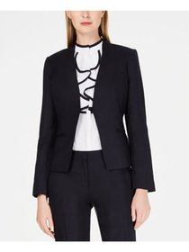 CALVIN KLEIN Womens Navy Wear To Work Jacket Petit