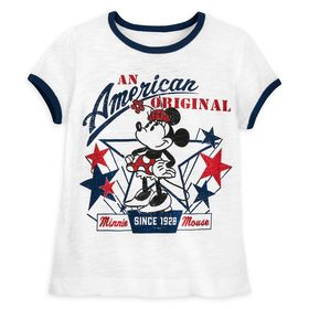 Disney Minnie Mouse Americana T-Shirt for Girls