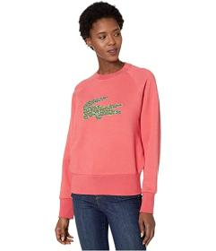 Lacoste Long Sleeve All Over Croc Brush Fleeced Sw
