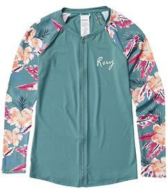 Roxy Fashion Zip Lycra Long Sleeve Rashguard