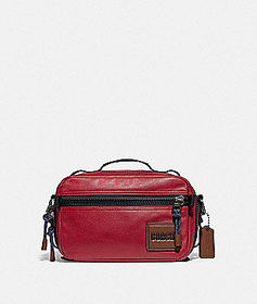 Coach pacer top handle crossbody with coach patch