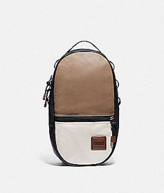 Coach pacer backpack in colorblock with coach patc