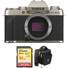 FUJIFILM X-T200 Mirrorless Digital Camera Body wit