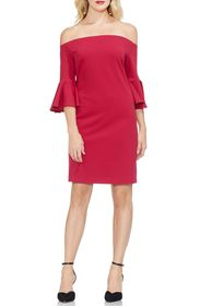Vince Camuto Off the Shoulder Bell Sleeve Ponte Dr