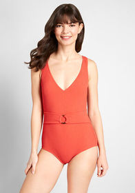 ModCloth The Roxanne One-Piece Swimsuit Red