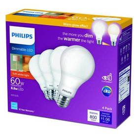 Philips 3001750 60 watt Equivalence A19 E26 Medium