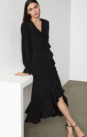 BCBG Silk Blouson Dress