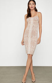 BCBG Snakeskin Cocktail Dress