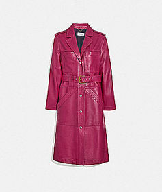 Coach leather trench