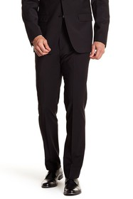 Calvin Klein Solid Black Wool Suit Separate Pants