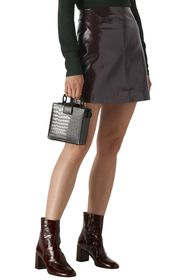 Whistles Patent Faux Leather Mini Skirt