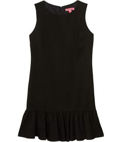 Betsey Johnson Scuba Crepe Dress with Ruffled Hem