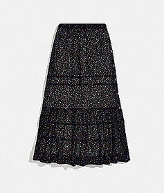 Coach tiered skirt with snaps