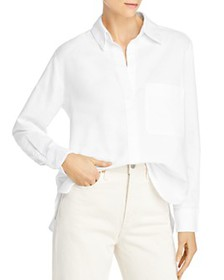 FRENCH CONNECTION - Relaxed Oxford Cotton Button-U