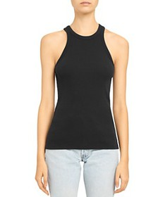 Theory - Ribbed Cotton-Modal Racerback Tank Top