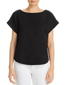 Eileen Fisher - Boat-Neck Cap-Sleeve Top