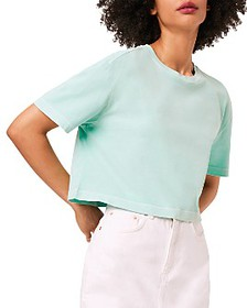 FRENCH CONNECTION - Sahana Cotton Cropped T-Shirt