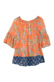 BeachLunchLounge Bell Sleeve Cover-Up Blouse