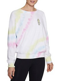 Betsey Johnson Tie-Dyed Lightning Bolt Graphic Rag