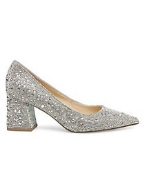Betsey Johnson Paige Embellished Pumps RHINESTONE